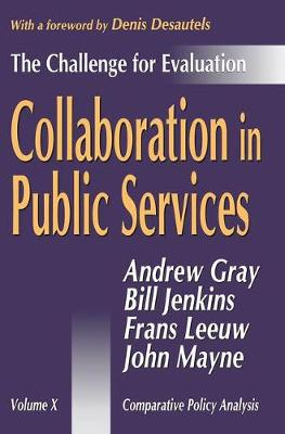 Collaboration in Public Services: The Challenge for Evaluation - Comparative Policy Evaluation (Hardback)