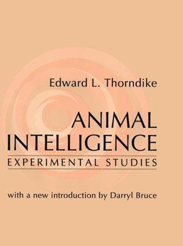 Animal Intelligence: Experimental Studies (Paperback)