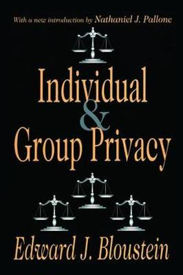 Individual and Group Privacy (Paperback)