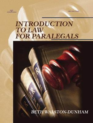 Introduction To Law For Paralegals (Paperback)