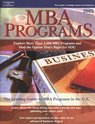 MBA Programs 2003 (Paperback)
