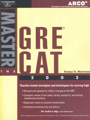 Master the Gre Cat, 2003/E (Paperback)