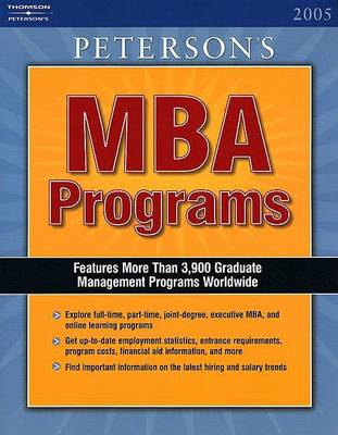 The Guide to MBA Programs 2005 (Paperback)