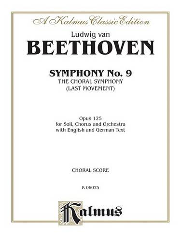Symphony No. 9 Choral Movement: Orch. (Book)