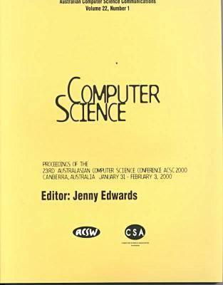 2000 Australasian Comp Science (Acsc) Conf: Acsc 2000 (Hardback)
