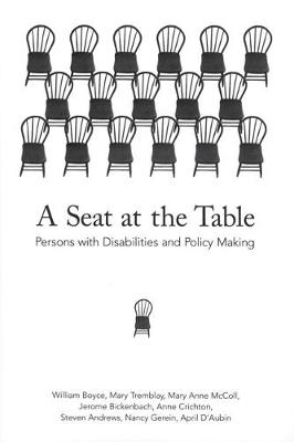 A Seat at the Table: Persons with Disabilities and Policy Making (Hardback)