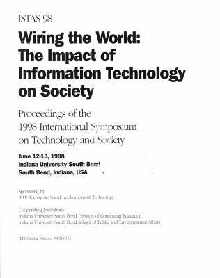 International Symposium on Technology and Society 1998 (Paperback)
