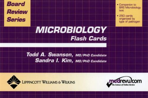 BRS Microbiology Flash Cards - Board Review Series