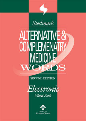 Stedman's Alternative & Complementary Medicine Words, on CD-ROM (CD-ROM)