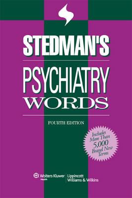 Stedman's Psychiatry Words (Paperback)