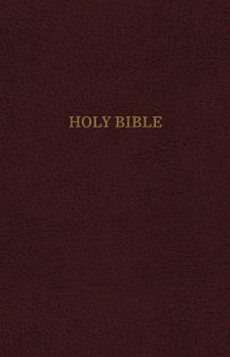 KJV, Reference Bible, Center-Column Giant Print, Bonded Leather, Burgundy,  Thumb Indexed, Red Letter Edition, Comfort Print: Holy Bible, King James