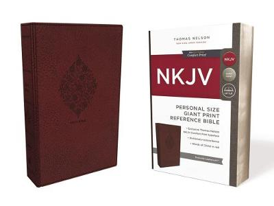NKJV, Reference Bible, Personal Size Giant Print, Leathersoft, Burgundy, Red Letter Edition, Comfort Print (Leather / fine binding)