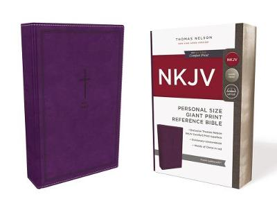 NKJV, Reference Bible, Personal Size Giant Print, Leathersoft, Purple, Red Letter Edition, Comfort Print (Leather / fine binding)
