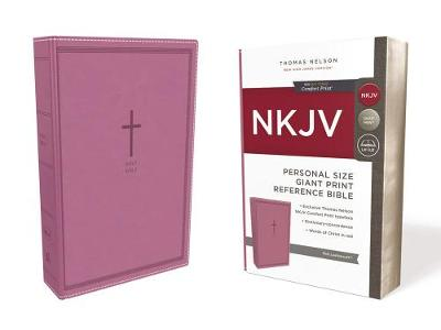 NKJV, Reference Bible, Personal Size Giant Print, Leathersoft, Pink, Red Letter Edition, Comfort Print: Holy Bible, New King James Version (Leather / fine binding)