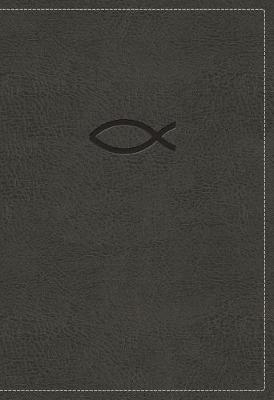 NKJV, Thinline Bible Youth Edition, Leathersoft, Gray, Red Letter Edition, Comfort Print (Leather / fine binding)