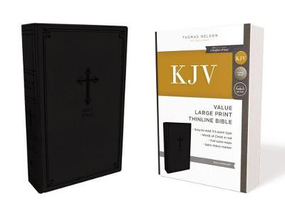 KJV, Value Thinline Bible, Large Print, Leathersoft, Black, Red Letter Edition, Comfort Print: Holy Bible, King James Version (Leather / fine binding)