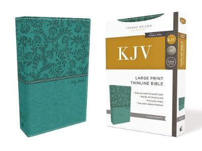 KJV, Thinline Bible, Large Print, Leathersoft, Green, Red Letter Edition, Comfort Print: Holy Bible, King James Version (Leather / fine binding)