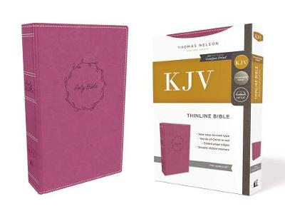 KJV, Thinline Bible, Leathersoft, Pink, Red Letter Edition, Comfort Print: Holy Bible, King James Version (Leather / fine binding)