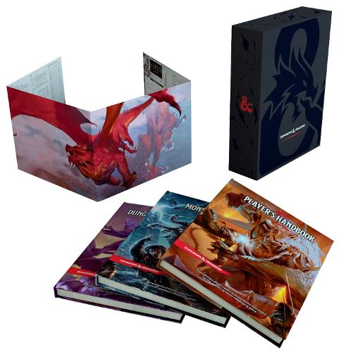 Dungeons & Dragons Core Rulebooks Gift Set (Special Foil Covers Edition with Slipcase, Player's Handbook, Dungeon Master's Guide, Monster Manual, DM Screen) - Dungeons & Dragons (Hardback)
