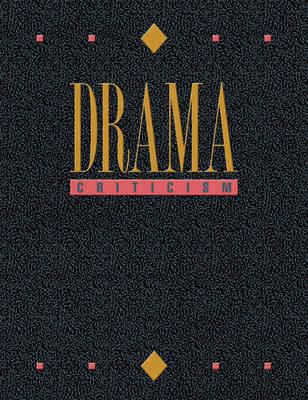 Drma Crit V15 - Drama Criticism 15 (Hardback)