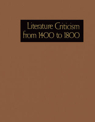 Lit Crit 1400-1800 74 - Literature Criticism from 1400 to 1800 074 (Hardback)