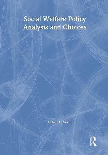 Social Welfare Policy Analysis and Choices (Paperback)