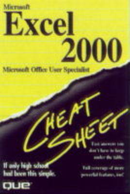 Microsoft Excel 2000: Microsoft Office User Specialist - Cheat Sheet S. (Paperback)