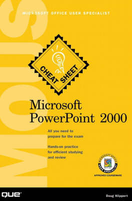 Microsoft PowerPoint 2000: Microsoft Office User Specialist - Cheat Sheet S. (Paperback)
