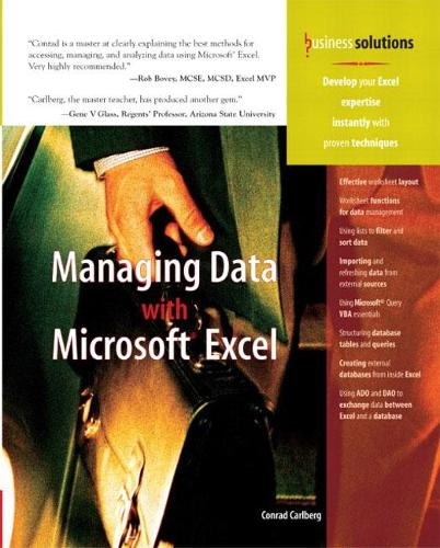 Managing Data with Excel (Paperback)