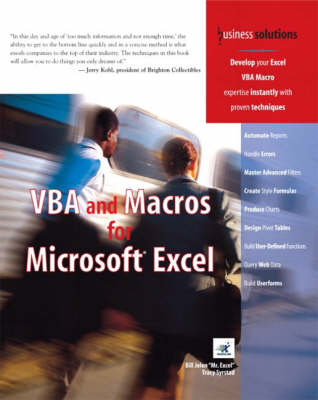 VBA and Macros for Microsoft Excel (Paperback)
