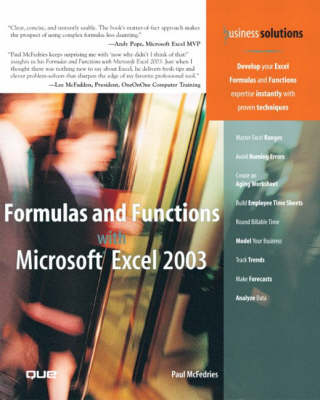 Formulas and Functions with Microsoft Excel 2003 (Paperback)