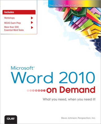 Microsoft Word 2010 On Demand (Paperback)