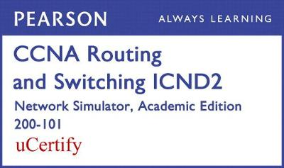 Cover CCNA R&S ICND2 200-101 Network Simulator Academic Edition Pearson uCertify Labs Student Access Card
