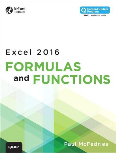 Excel 2016 Formulas and Functions (includes Content Update Program) (Paperback)
