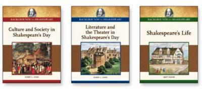 Backgrounds to Shakespeare Set: Three Volumes (Hardback)