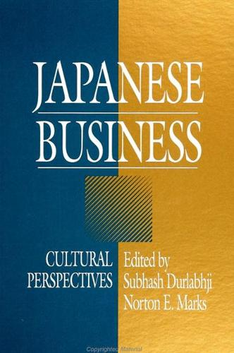 Japanese Business: Cultural Perspectives (Paperback)