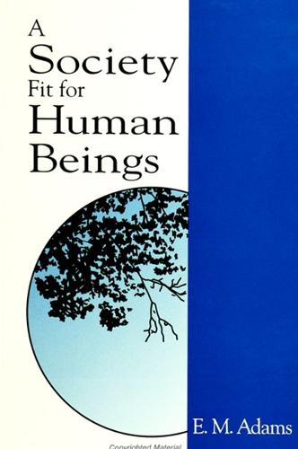 A Society Fit for Human Beings - SUNY series in Constructive Postmodern Thought (Paperback)