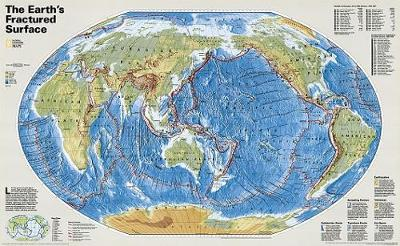 The Earth's Fractured Surface (Sheet map, rolled)