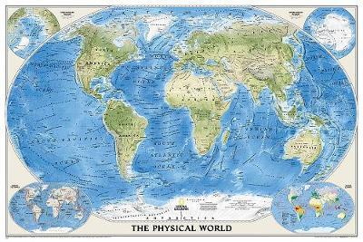 World Physical, Enlarged & Laminated: Wall Maps World (Sheet map)
