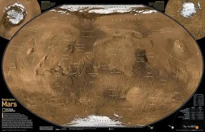 Mars, The Red Planet, 2-sided, Tubed: Wall Maps Space (Sheet map)