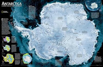 Antarctica Satellite, Tubed: Wall Maps Continents (Sheet map)
