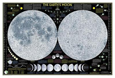 Earth's Moon, Laminated: Wall Maps Space (Sheet map, rolled)