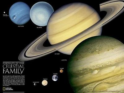 The Solar System, 2-sided, Laminated: Wall Maps Space (Sheet map, rolled)