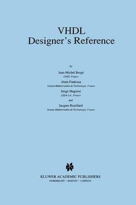 VHDL Designer's Reference (Hardback)