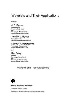 Wavelets and Their Applications - NATO Science Series C 442 (Hardback)