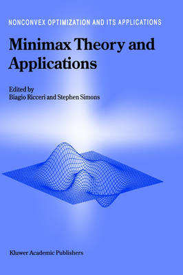Minimax Theory and Applications - Nonconvex Optimization and Its Applications 26 (Hardback)
