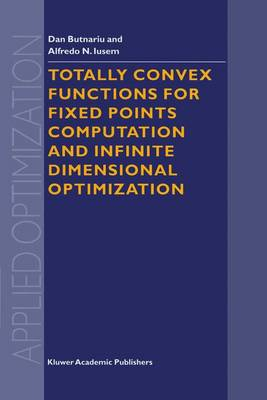 Totally Convex Functions for Fixed Points Computation and Infinite Dimensional Optimization - Applied Optimization v. 40 (Hardback)