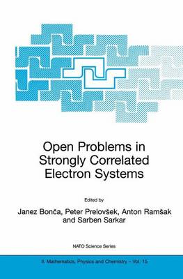Open Problems in Strongly Correlated Electron Systems - NATO Science Series II 15 (Hardback)