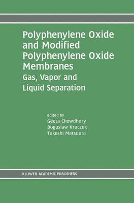 Polyphenylene Oxide and Modified Polyphenylene Oxide Membranes: Gas, Vapor and Liquid Separation (Hardback)