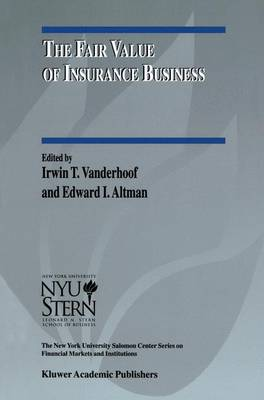 The Fair Value of Insurance Business - The New York University Salomon Center Series on Financial Markets and Institutions 5 (Hardback)